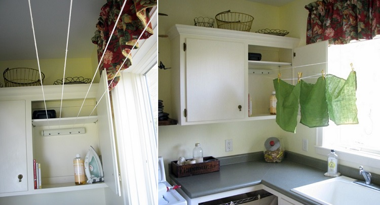 laundry room clothesline
