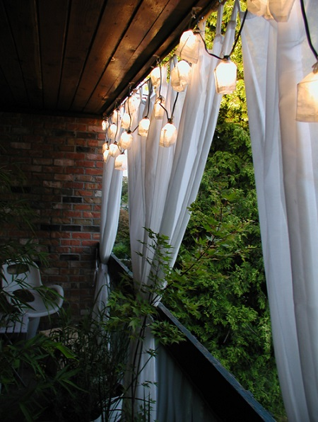 balcony privacy drapes