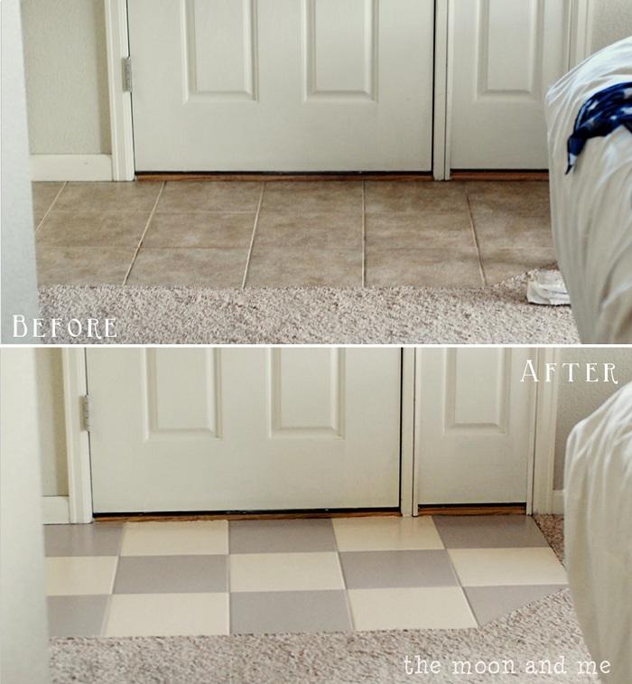hiding eyesores - painting tiles
