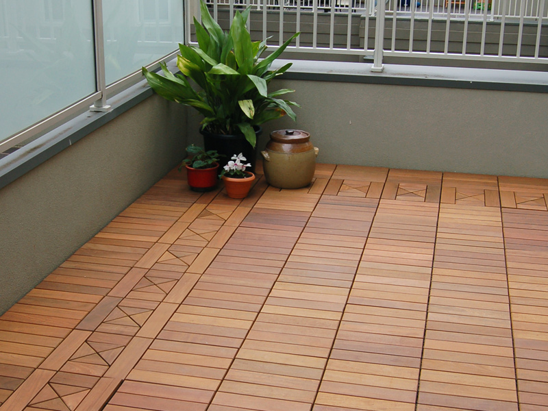 interlocking deck tiles balcony