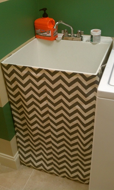 sink plumbing skirt