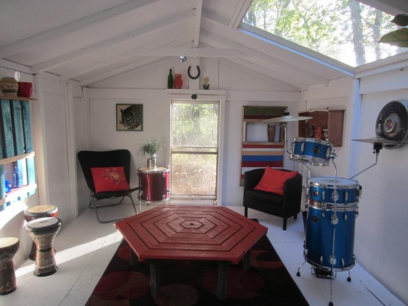 backyard shed lounge
