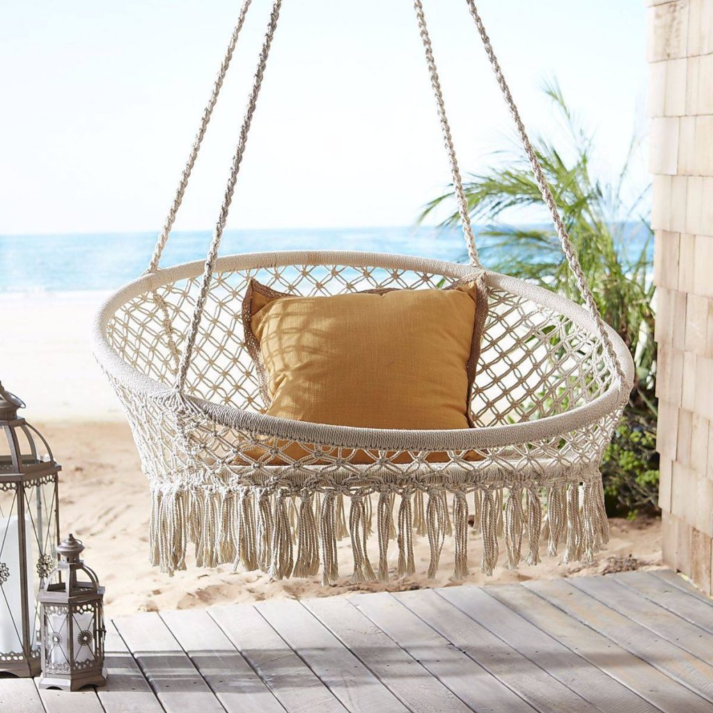 marrakech diy macrame macram hanging chair swing