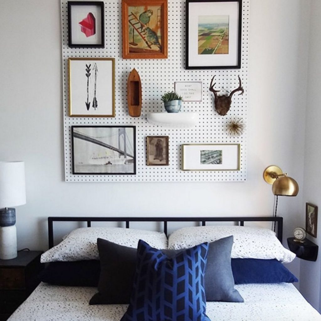 how to make a headboard to hang on the wall