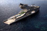 mega yacht exterior