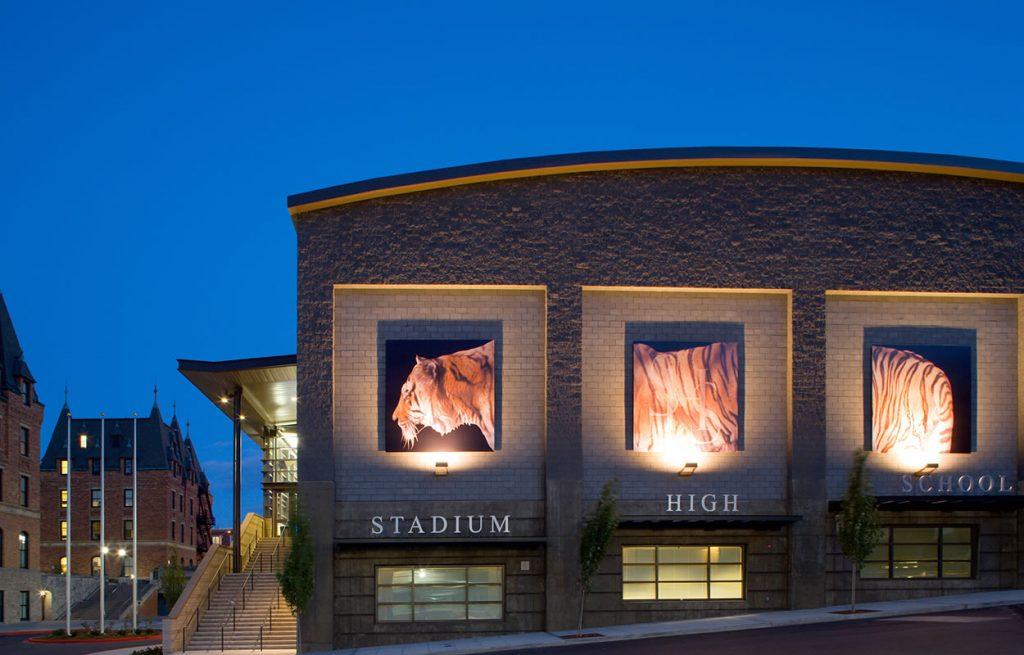 stadium high artwork
