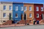 DC row houses colorful