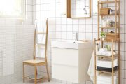 chair and towel rack