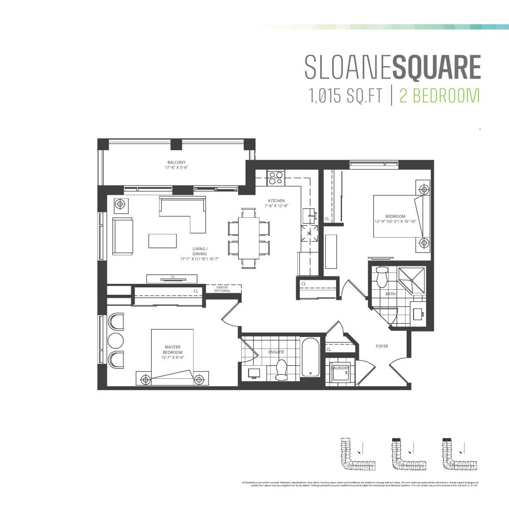 Square Kitchen Floor Plans Residents Wont Be Short On Space With Parkcitys Two Bedroom