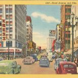 seattle streets postcard