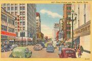 seattle streets postcard