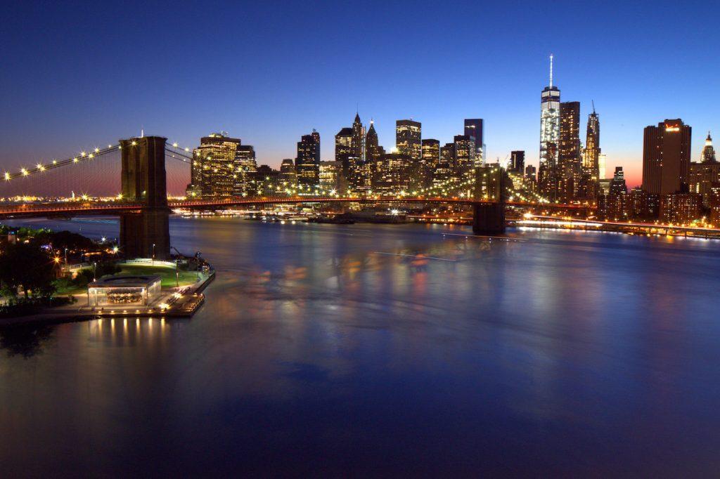 Manhattan brooklyn bridge view