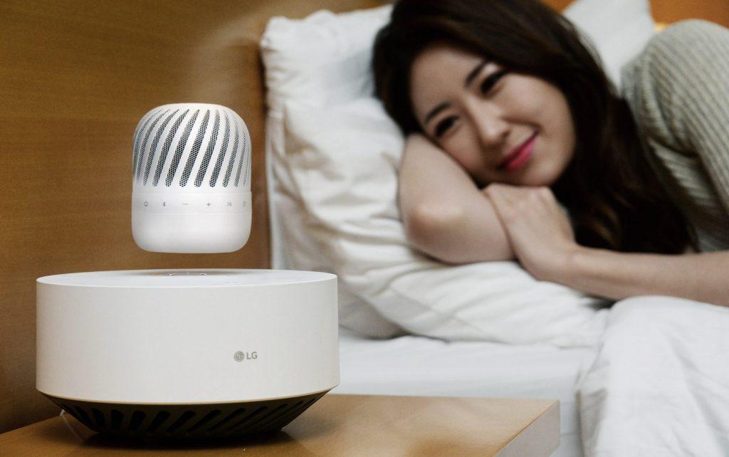 levitating portable speaker