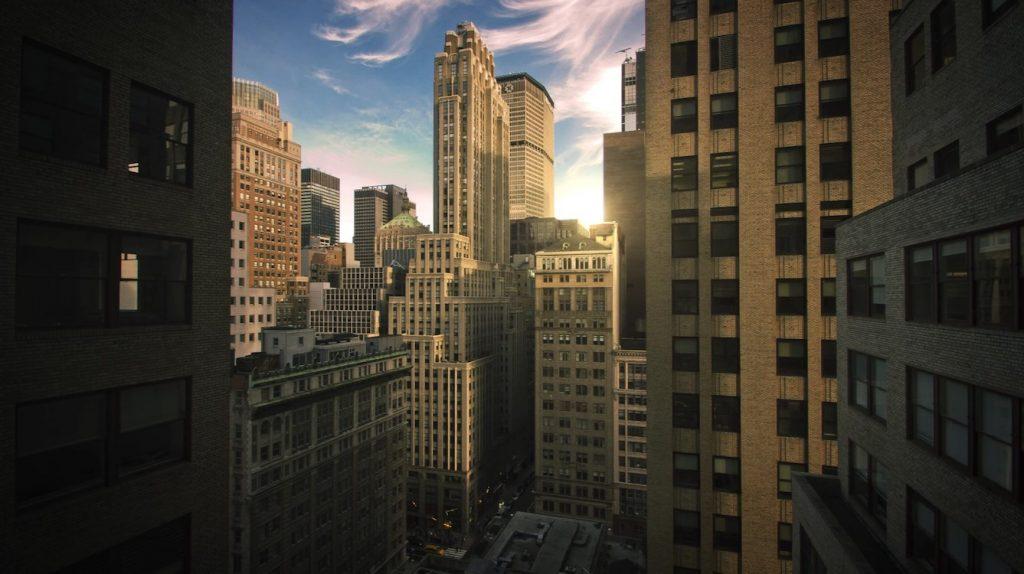 Midtown Manhattan NYC sunset
