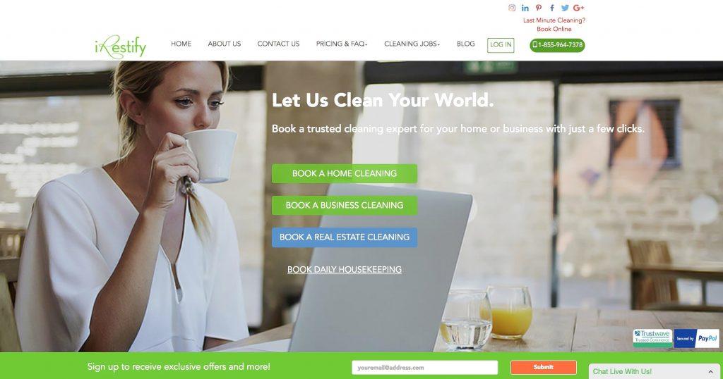 iRestify_Homepage