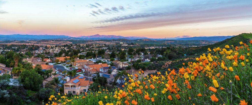 Claifornia suburban sunrise