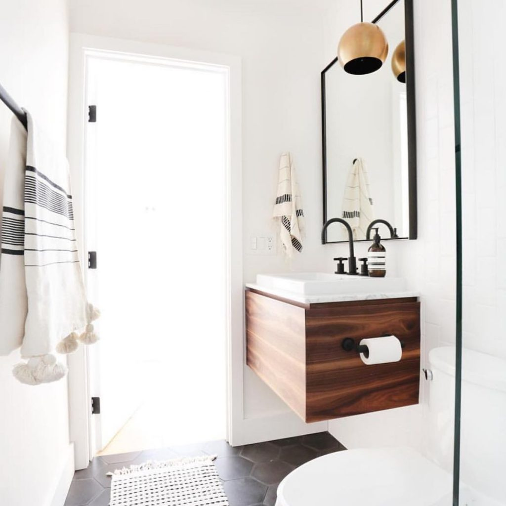 Opt For A Floating Vanity In A Small Bathroom.
