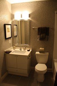 one bedroom model suite bathroom