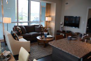 two bedroom model suite