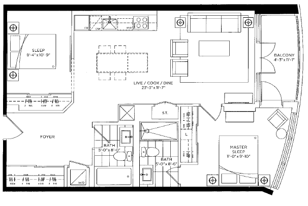 south hill 2 bedroom 826
