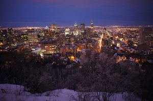 montreal winter skyline