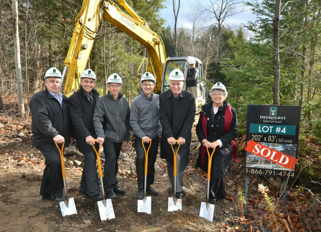 Deerhurst groundbreaking. Photo: Nicola Betts, 2012