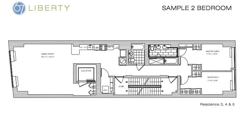 67 liberty floor plan 2BR