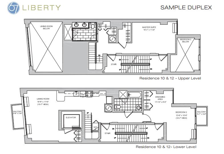 67 liberty floor plan duplex
