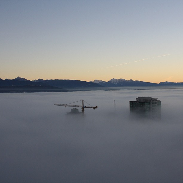 Fog at Bosa Properties' Sovereign in Burnaby, BC