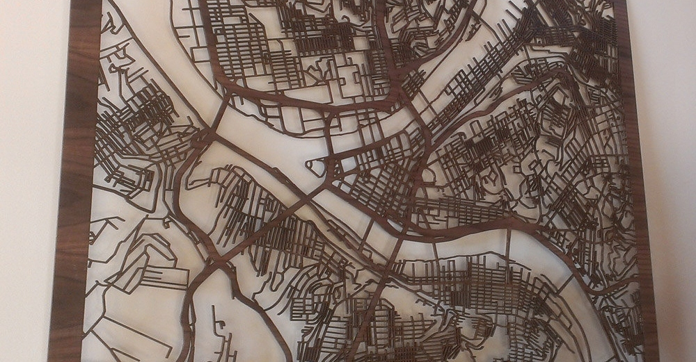 Linden's CutMap of Pittsburgh, PA