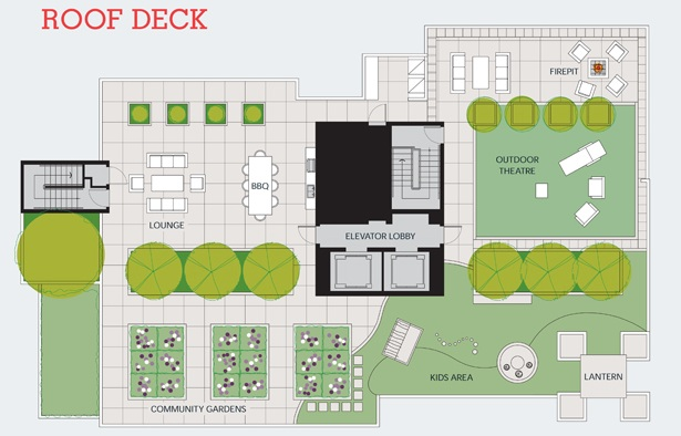 Keefer Block rooftop deck plans