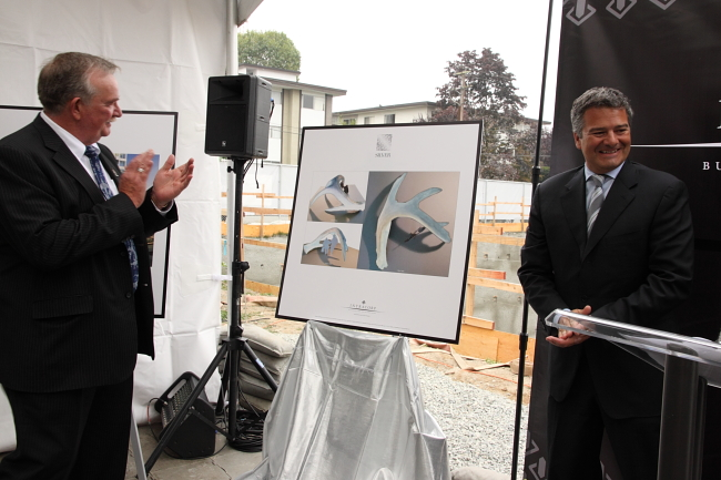 "Jacqueline Metz and Nancy Chew's ""The Shed"" will be part of Intracorp's Silver Condos development in Burnaby."