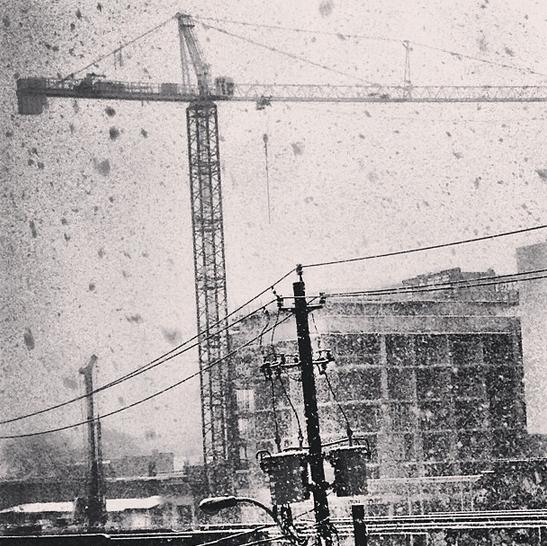 The 8 Gladstone crane in Toronto.