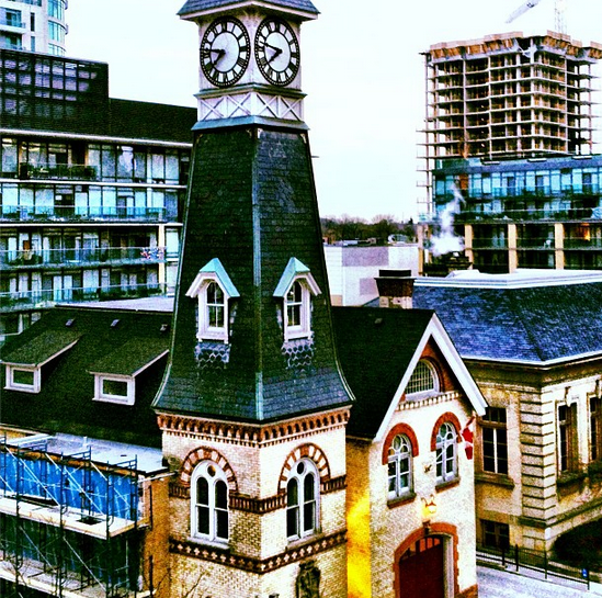The Milan condos in Yorkville, rising while the temperatures drop.