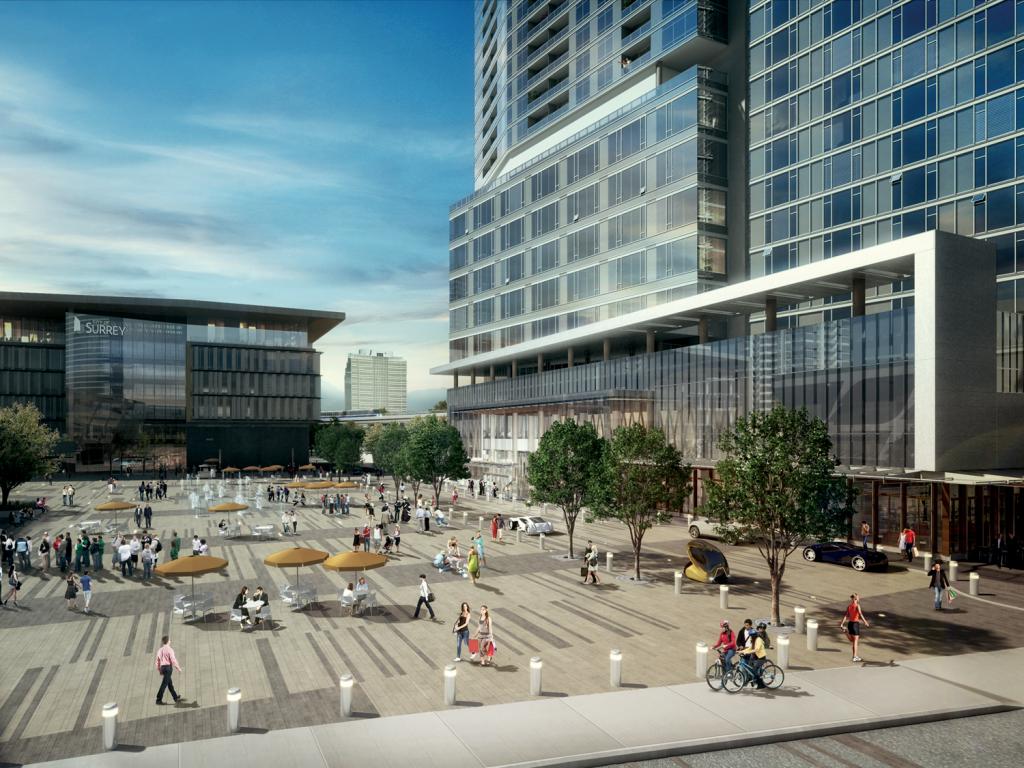 The new City Hall and 3 Civic Plaza Lobby.