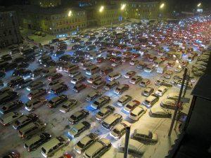 Moscow Traffic Flickr photo by Leszek Golubinski