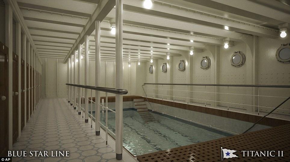 Titanic II swimming pool