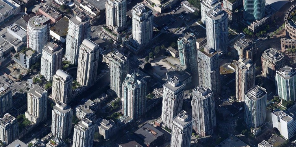 Vancouver tilted buildings google maps3