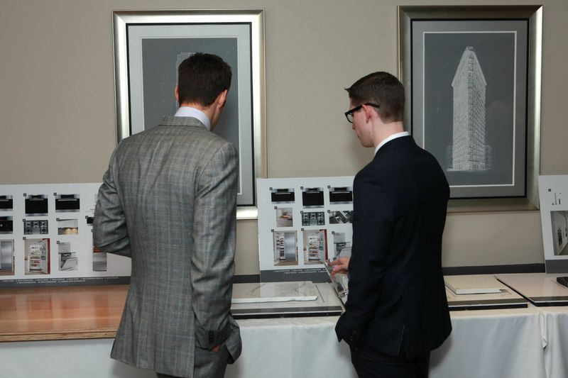 Guests had the chance to look at the building fixtures and renderings.