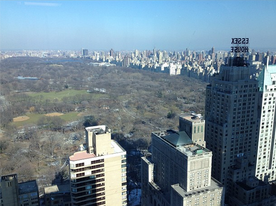 View of Central Park from Corcoran HQ in NYC.
