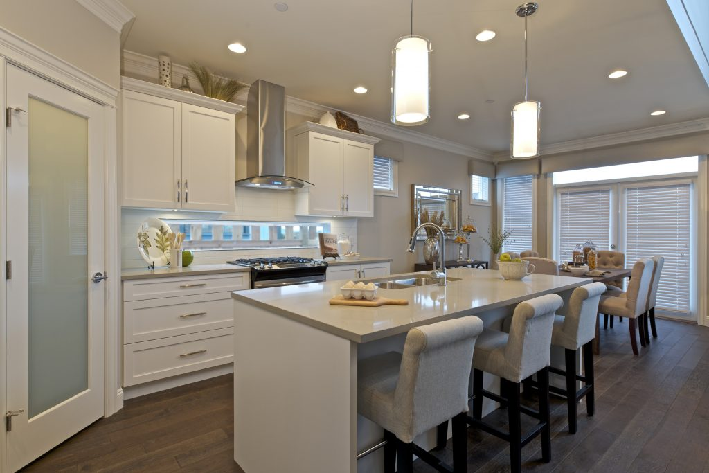 The kitchen and dinning area in Tsawwassen Shores' soon-to-be open model home.