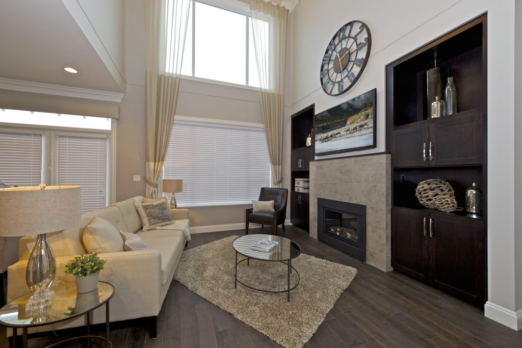Tsawwassen Shores' model home living room.