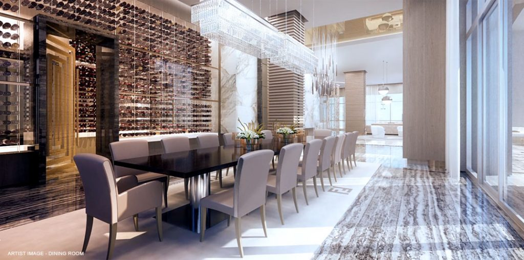 mansions acqualina dining room