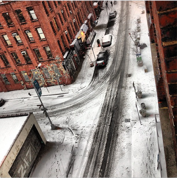 Love those tire tracks and people tracks. Photo by @loveteque