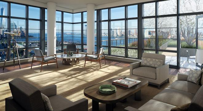 150 Charles living room
