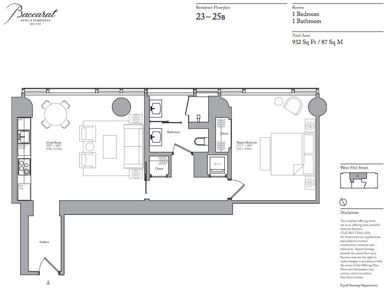 Baccarat floorplan 23B