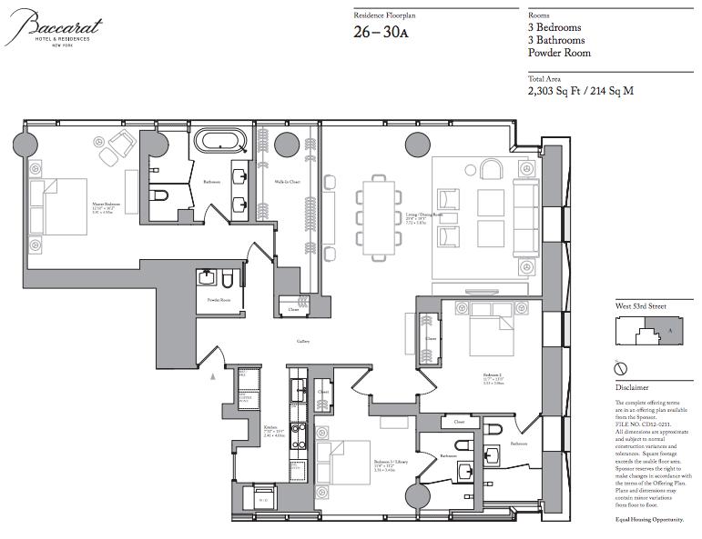 Baccarat floorplan 26A