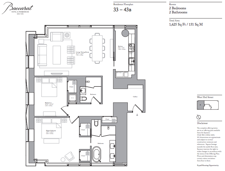 Baccarat floorplan 37B