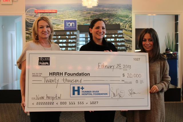 ION condos cheque Humber River Hospital