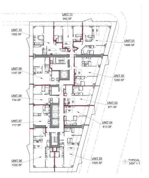 SLS Brickell floor plan
